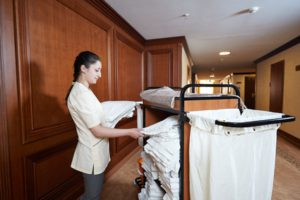 Housekeeper at hotel